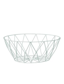 Bloomingville Round White Basket