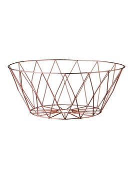 Bloomingville Round Copper Basket