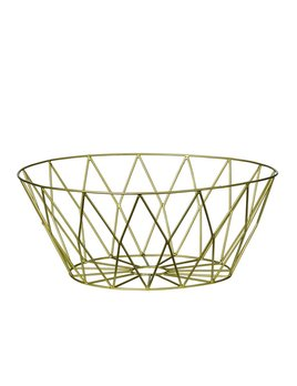 Bloomingville Round Gold Basket