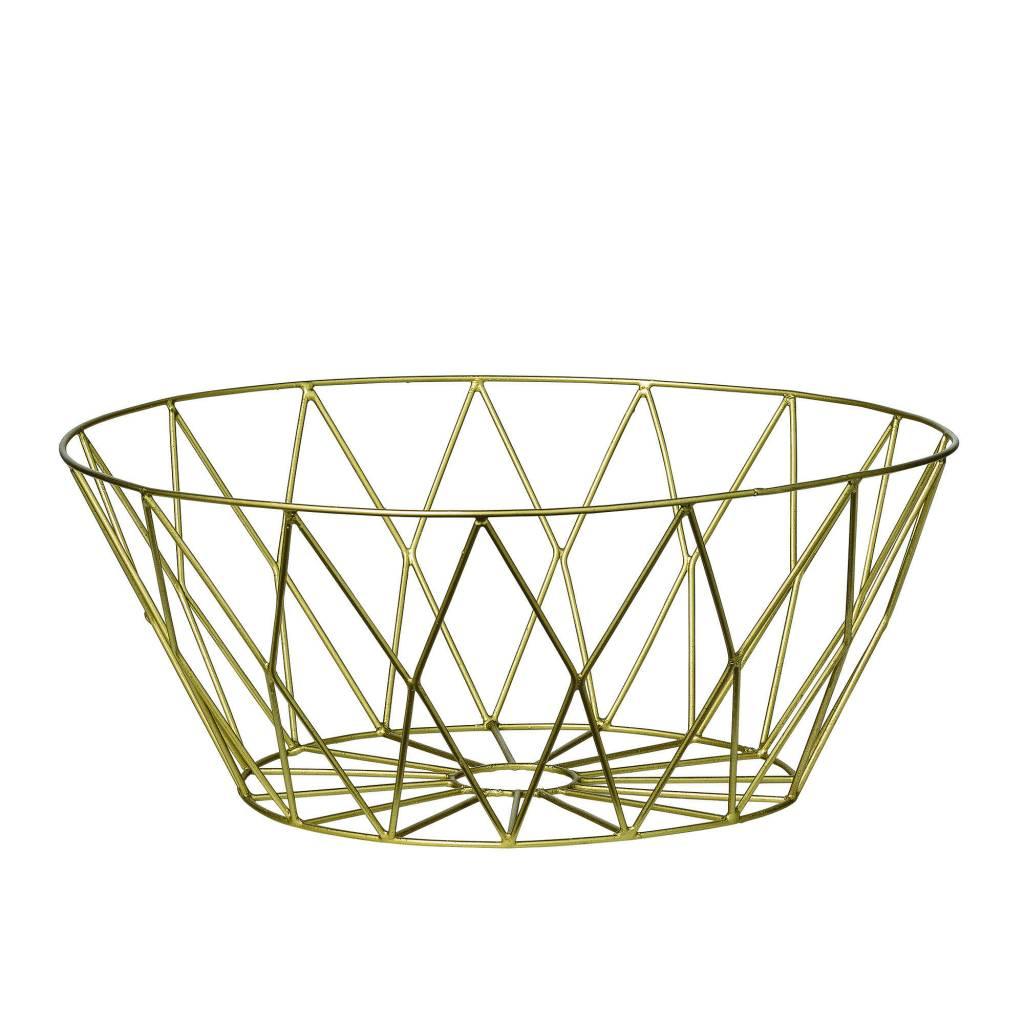 Bloomingville Round Gold Basket