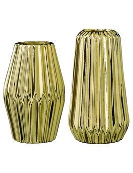 Bloomingville Gold Fluted Vase
