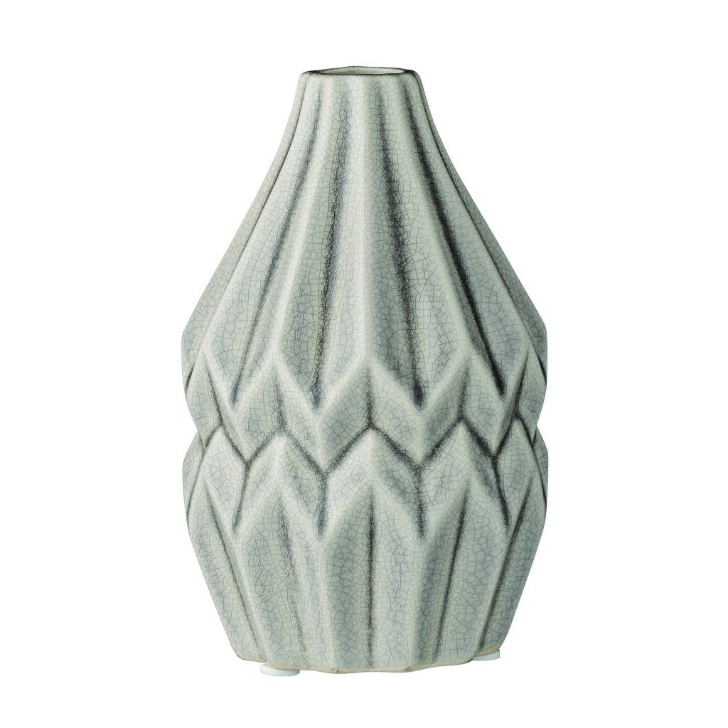 Bloomingville Grey Fluted Small Vase