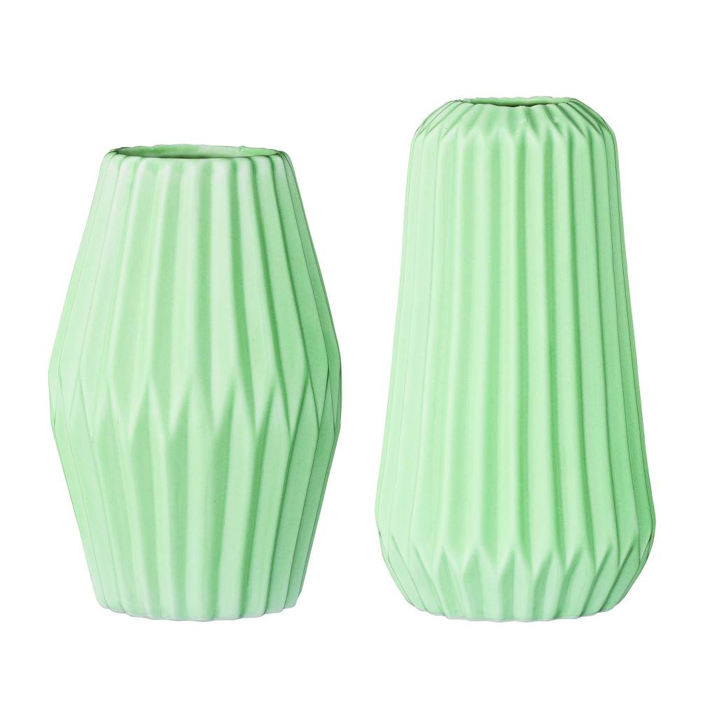 Bloomingville Mint Fluted Vase