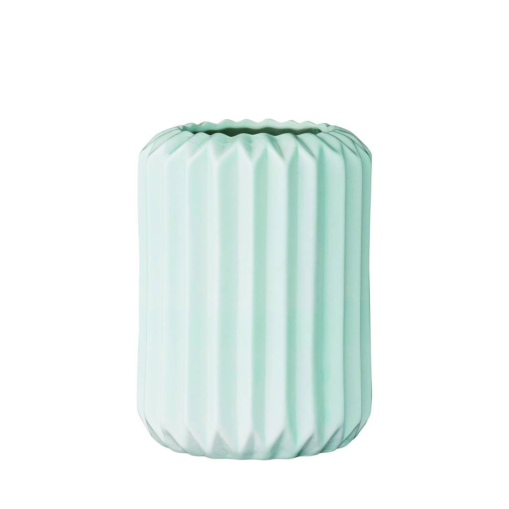 Bloomingville Aqua Fluted Vase