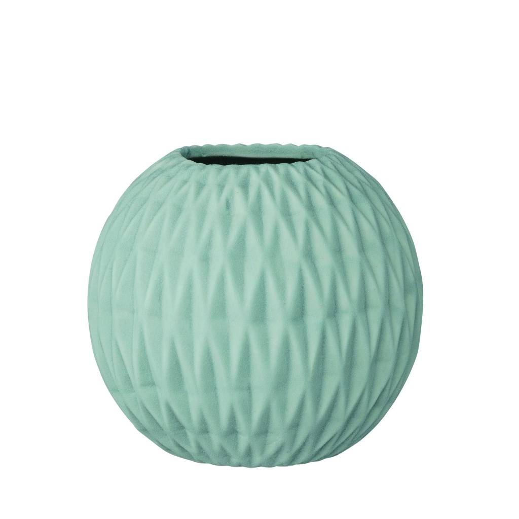 Bloomingville Blue Round Fluted Vase