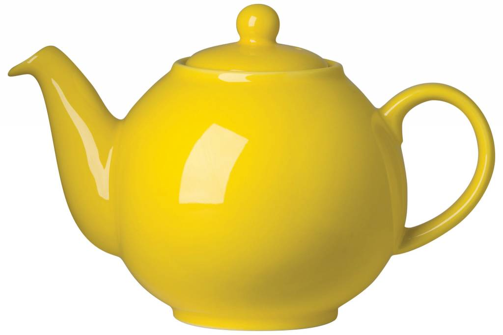 Yellow 6-cup Tea Pot