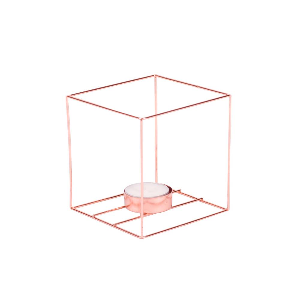 BSide Cube candle holder copper