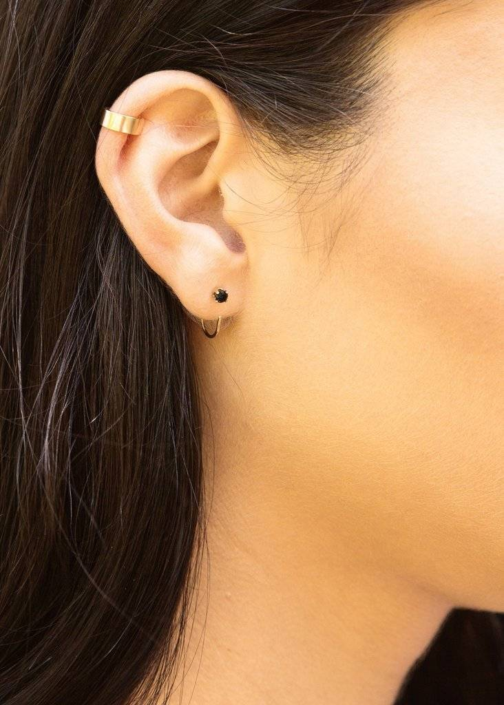 Hart and Stone Black Curl Earrings
