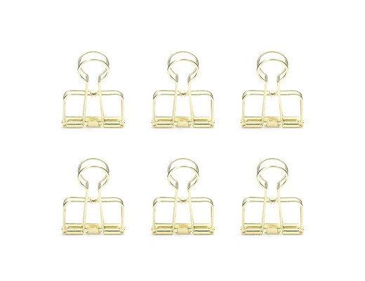 Kikkerland Brass 6-clip set