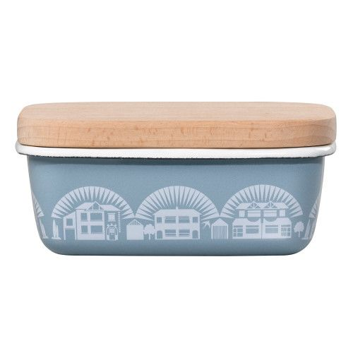 Wild&Wolf Enamel Blue Butter Dish