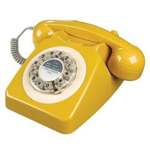 Wild&Wolf Mustard Vintage Phone