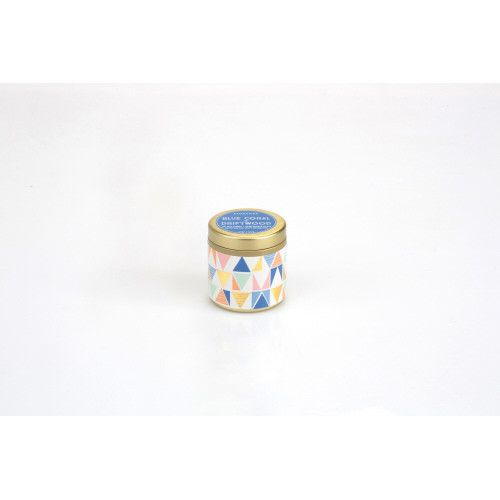 Blue coral and Driftwood Candle