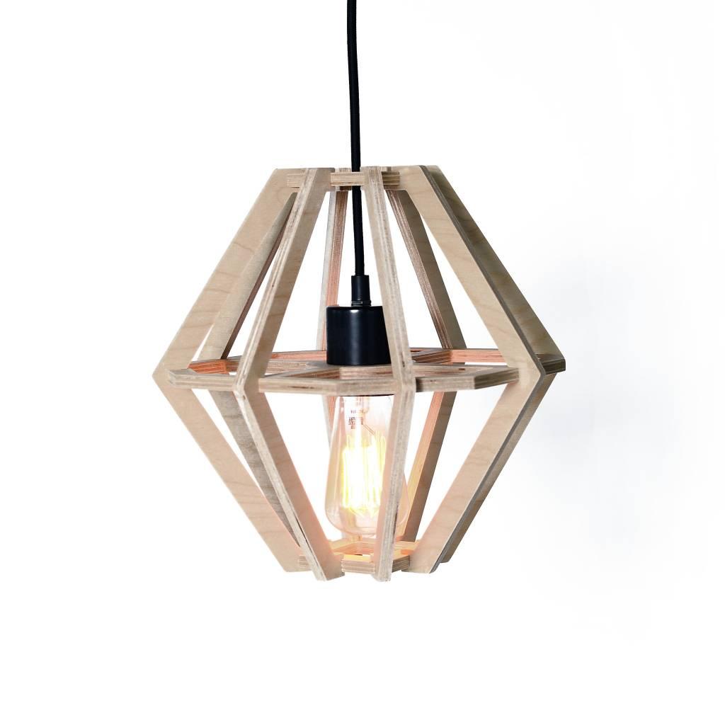 Gauthier Studio Diamond Natural Wood Lampshade