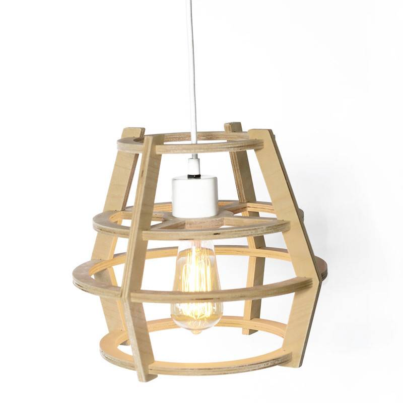 Gauthier Studio Natural Wood Round Lampshade