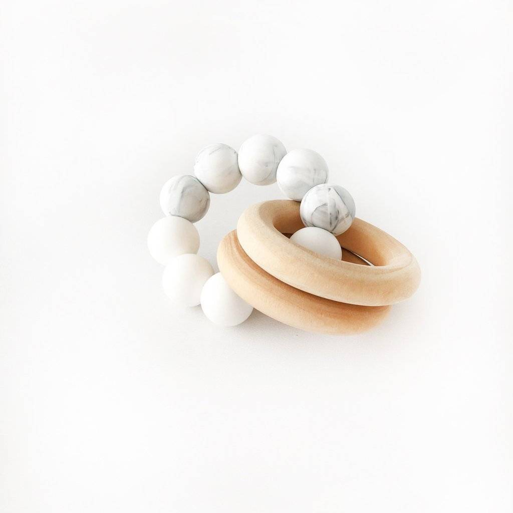 Otherware White & Marble Duo Teether