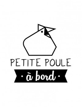 Ptit Mec Ptite Nana Petite Poule A Bord Sticker