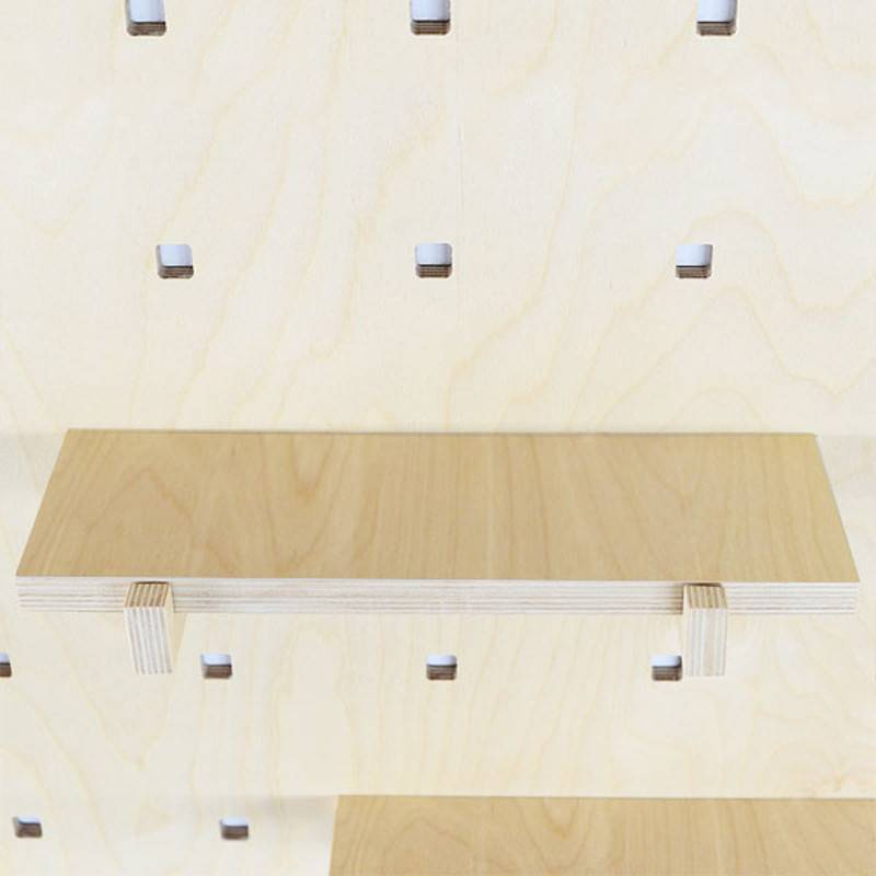 Gauthier Studio Carambina Natural Wood Shelves