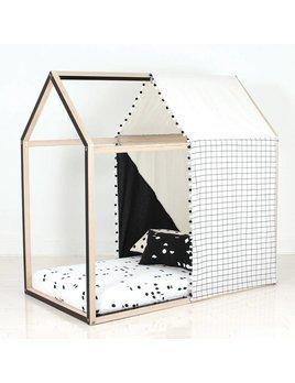 Gauthier Studio Tissu Cachette Noir pour Maisonnette