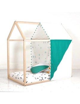 Gauthier Studio Tissu Cachette Vert pour Maisonnette