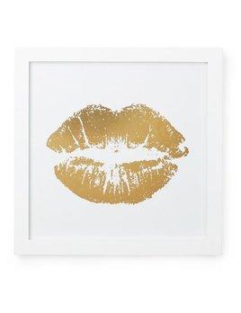 Cadre Lèvres Dorées