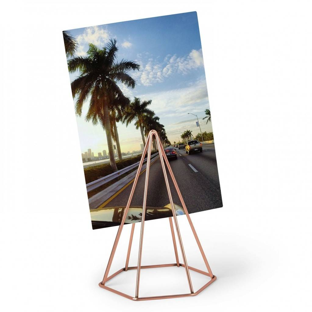 Umbra Copper Pyramid Photo Holder