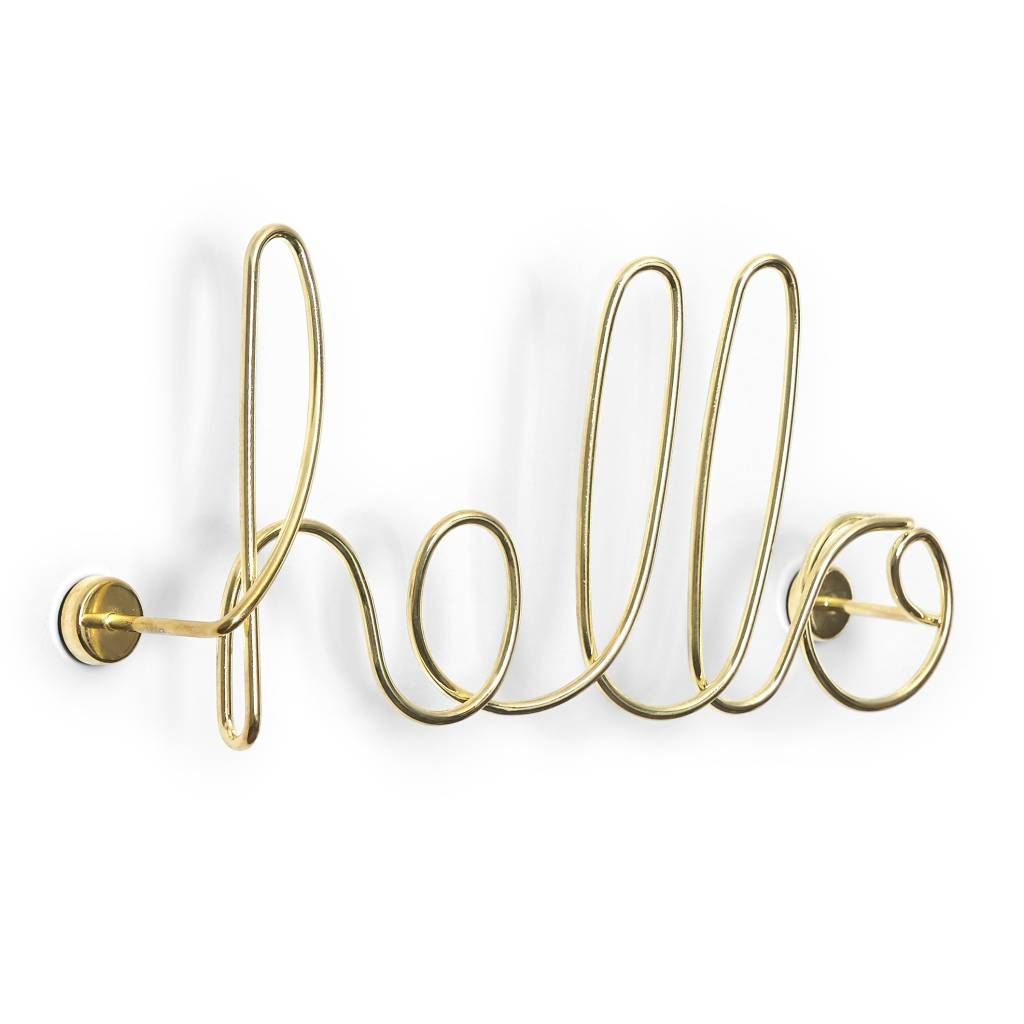 Umbra Hello Wall Brass