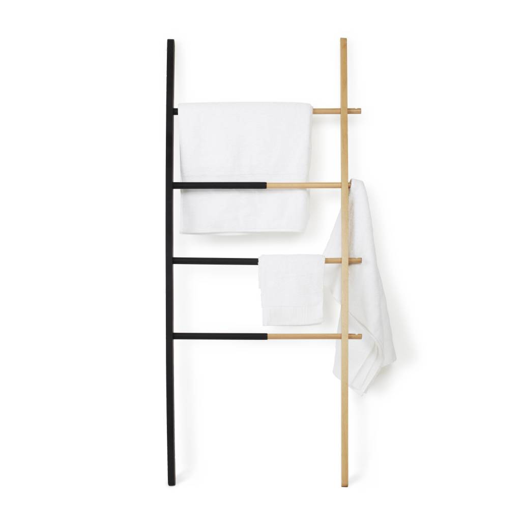 Umbra Black Natural Hub Ladder