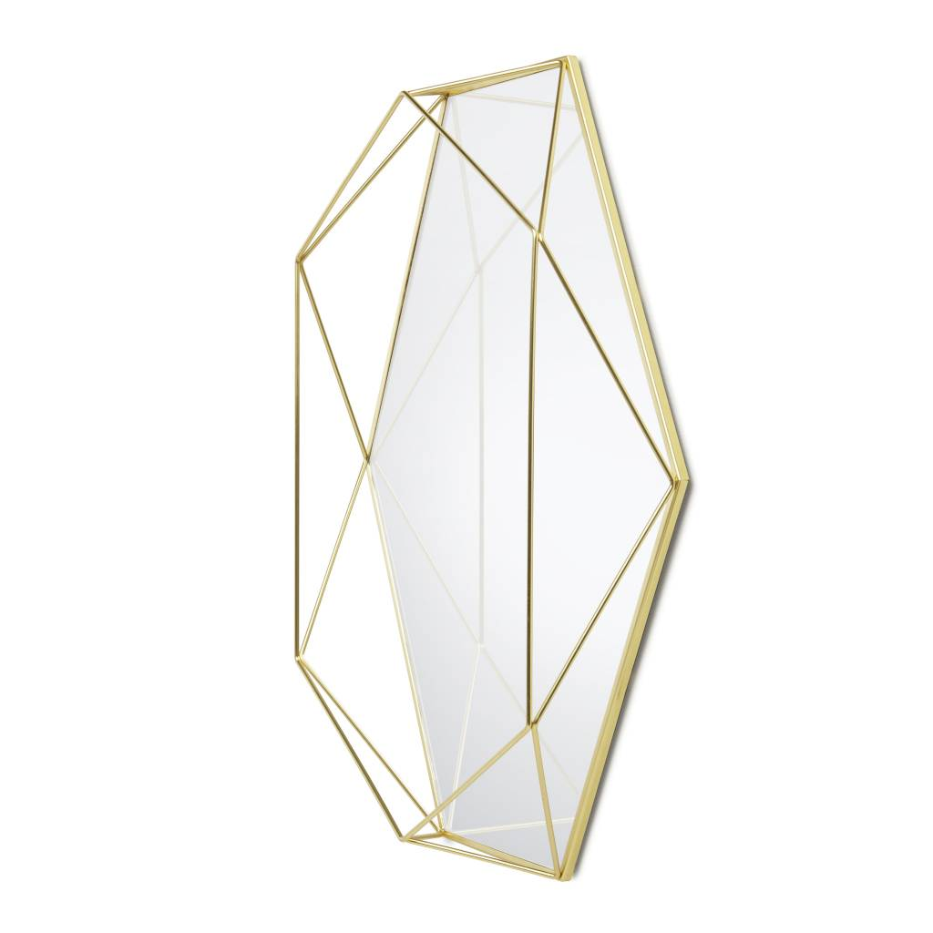 Umbra Prisma Brass Mirror