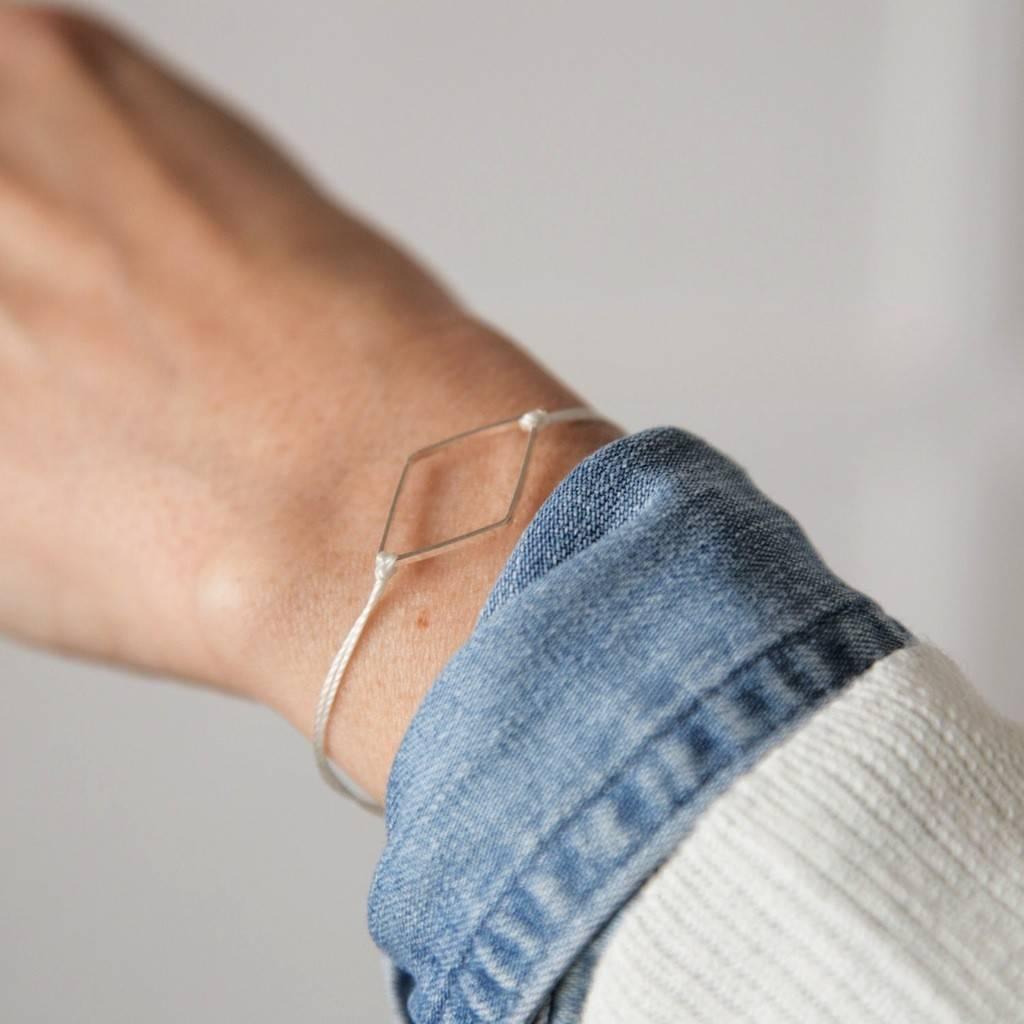 Si Simple Bracelet Diamant Blanc