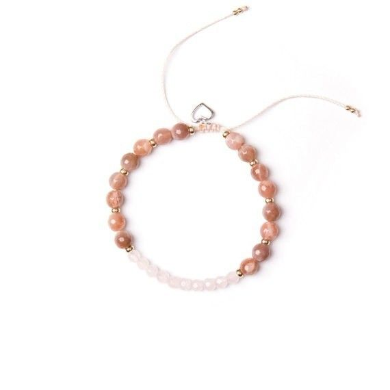 Si Simple Bohemia pink bracelet