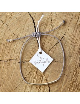 Si Simple Grey Cate Coton Bracelet