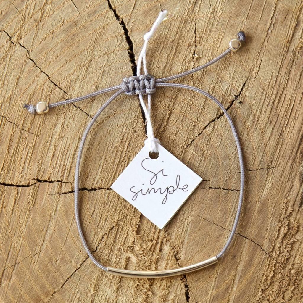Si Simple Bracelet Cate Coton gris