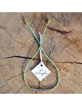 Si Simple Mint Cate Coton Bracelet