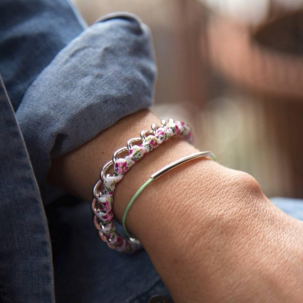 Si Simple Bracelet Cate Coton menthe