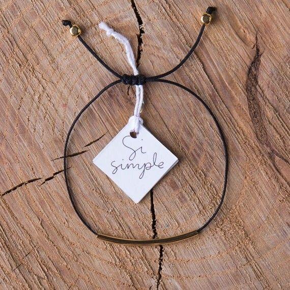 Si Simple Bracelet Cate Coton Noir