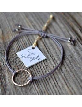 Si Simple Silver Grey Isabel Bracelet
