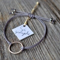 Si Simple Silver and Grey Isabel Bracelet