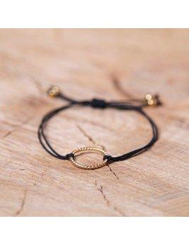 Si Simple Black and Gold Isabel Bracelet