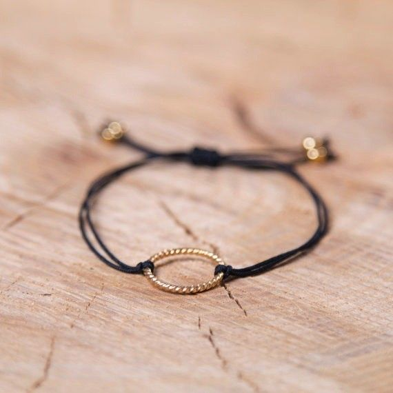 Si Simple Black and Gold Isabel Bracelet