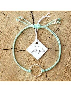 Si Simple Bracelet Isabel Argent et Turquoise