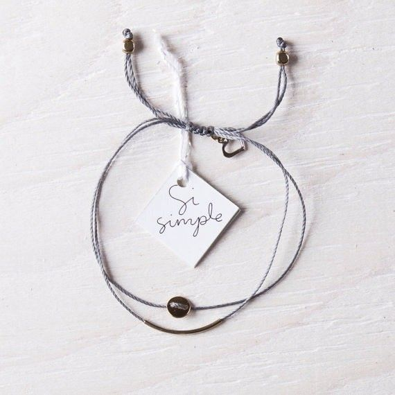 Si Simple Gold and Grey Luna Bracelet
