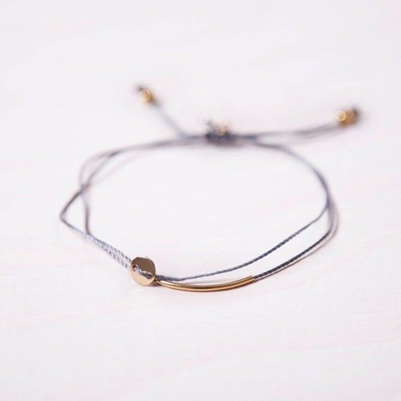 Si Simple Gold Grey Luna Bracelet