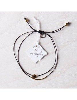 Si Simple Gold and Black Luna Bracelet