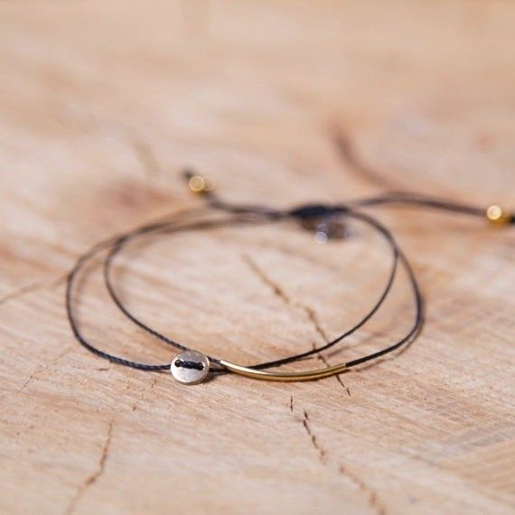 Si Simple Gold and Black Luna Bracelet