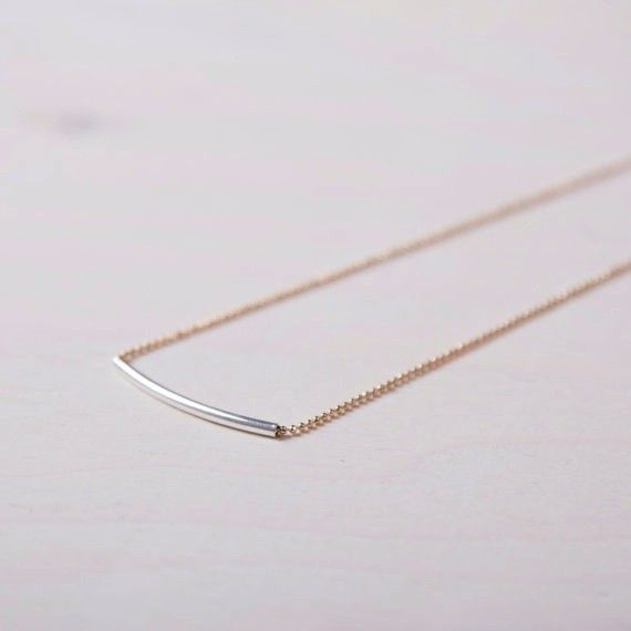Si Simple Cate Short Gold Necklace
