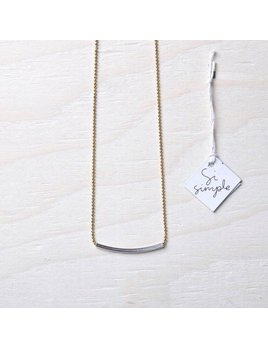 Si Simple Gold Long Cate Necklace