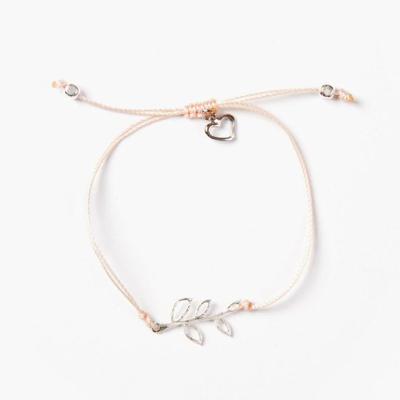 Si Simple Fern Bracelet Pink Thread
