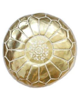 Morrocan Gold Pouf