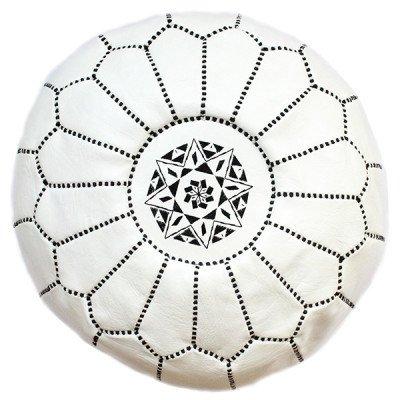 Morrocan White Pouf