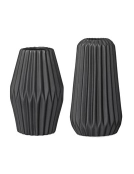 Bloomingville Black Fluted Vase